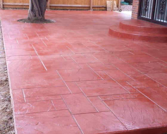 Red Concrete Slab Floors