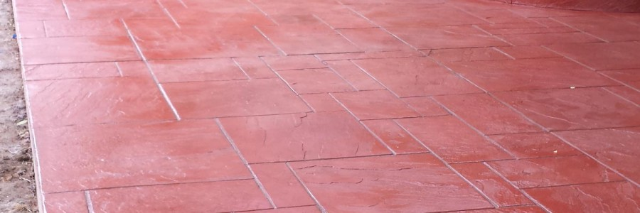 Red Concrete Slab Floors