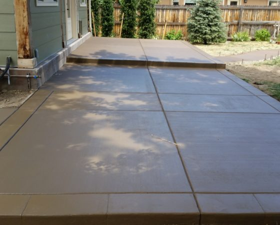 Patio Broom Finish Color Concrete