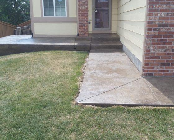 Porch Stamp Concrete