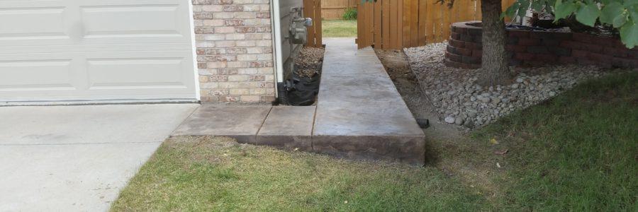Side Walk Stamp Concrete